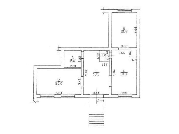 Торговое помещение 78.6 м², Коллонтай 23 - План
